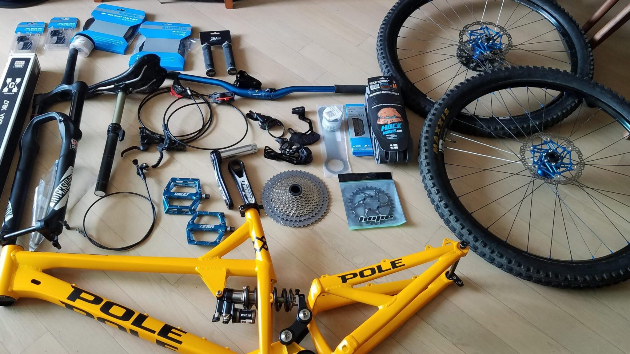 Parts for a custom mountain bike build