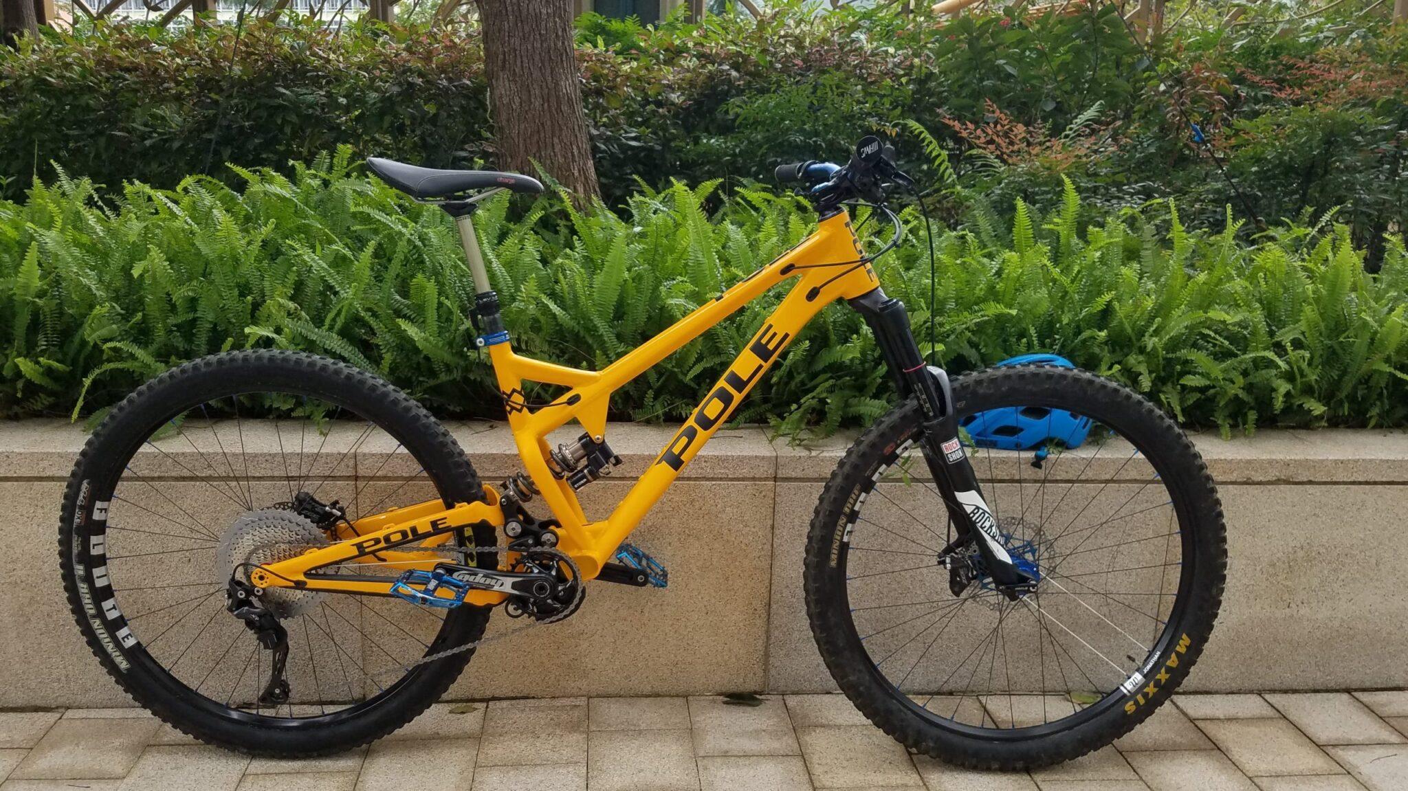 finished custom mountain bike build